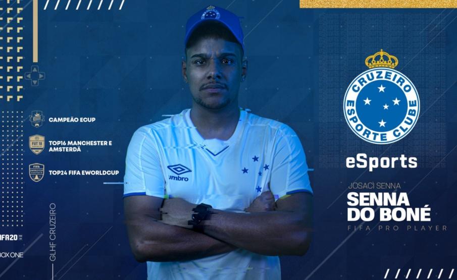 Senna do Boné é apresentado pelo Cruzeiro eSports
