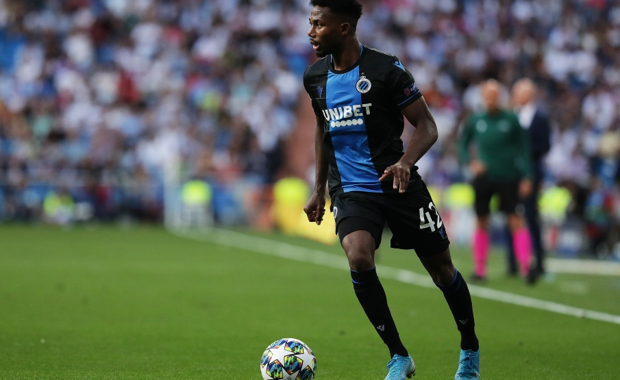 Emmanuel Dennis foi destaque do Brugge contra o Real(2019 Getty Images, Getty Images Europe)