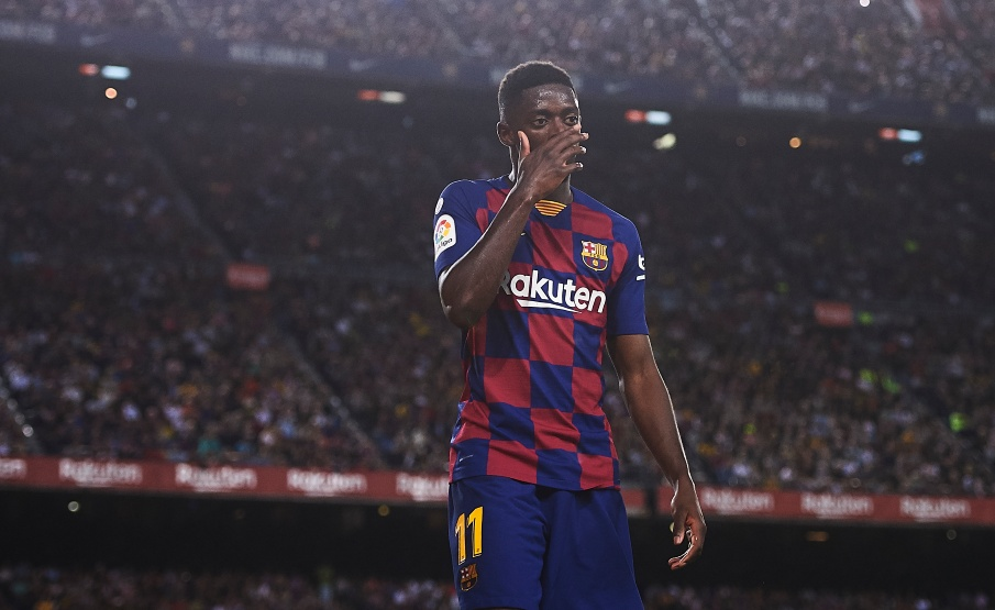 Dembélé foi expulso nos minutos finais da goleada sobre o Sevilla(2019 Getty Images, Getty Images Europe)