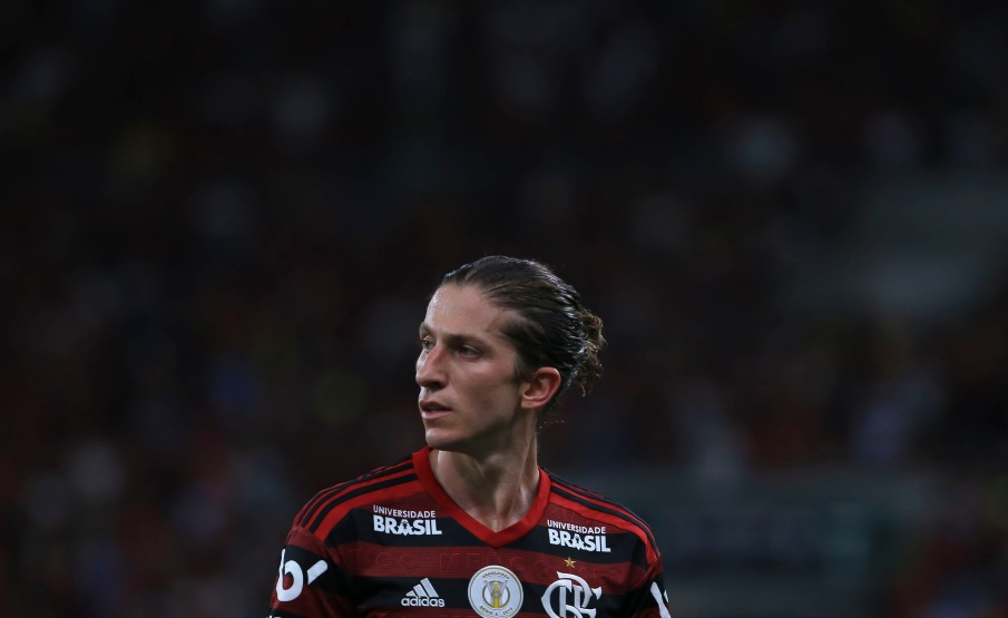Filipe Luís aparece em treino do Flamengo no Ninho do Urubu(2019 Getty Images, Getty Images South America)