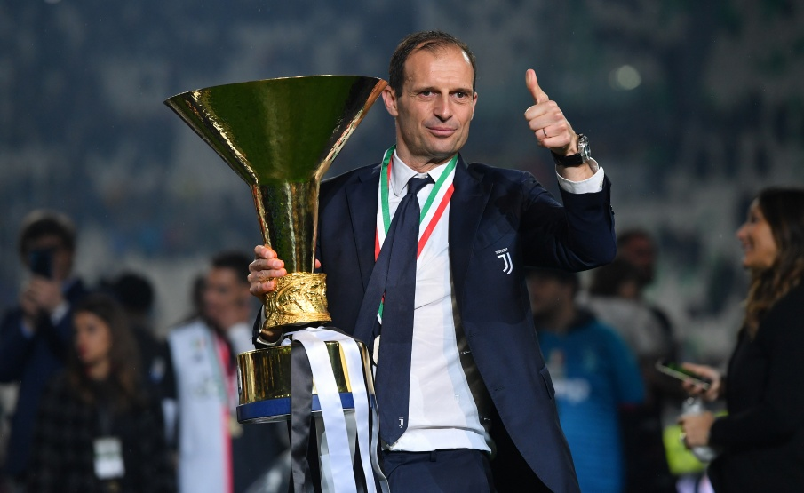 Massimiliano Allegri conquistou 12 títulos com a Juventus(2019 Getty Images, Getty Images Europe)