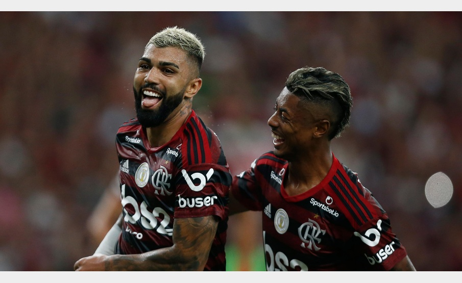 Gabigol e Bruno Henrique fizeram parceria fulminante na temporada de 2019(Via Getty Images)