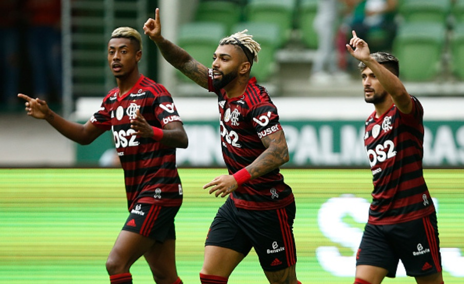 Trio de ataque do Flamengo é finalista do prêmio 'Rey de América'(Getty Images)
