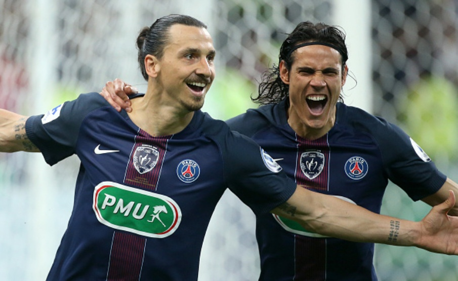 Ibra e Cavani jogaram juntos no PSG(Getty Images)