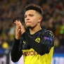 DORTMUND, GERMANY - FEBRUARY 18: Jadon Sancho of Borussia Dortmund applauds the crowd during the UEFA Champions League round of 16 first leg match between Borussia Dortmund and Paris Saint-Germain at Signal Iduna Park on February 18, 2020 in Dortmund, Germany. (Photo by Chris Brunskill/Fantasista/Getty Images)