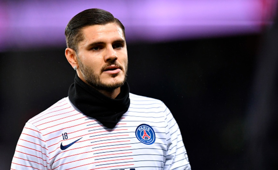 PARIS, FRANCE - FEBRUARY 09: Mauro Icardi of Paris Saint-Germain looks on during warmup before the Ligue 1 match between Paris Saint-Germain and Olympique Lyon at Parc des Princes on February 09, 2020 in Paris, France. (Photo by Aurelien Meunier - PSG/PSG via Getty Images)(2020 PSG)