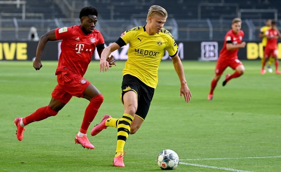 Haaland se lesionou na partida contra o Bayern de Munique(Getty Images)