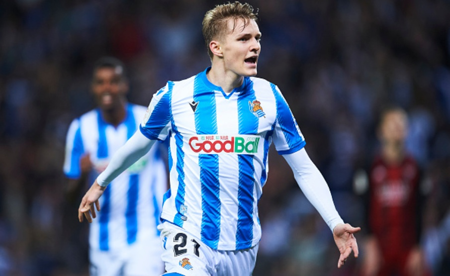 Destaque da Real Sociedad, Odegaard interessa ao Milan(2020 Getty Images)