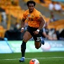 WOLVERHAMPTON, ENGLAND - JUNE 24: Adama Traore of Wolverhampton Wanderers during the Premier League match between Wolverhampton Wanderers and AFC Bournemouth  at Molineux on June 24, 2020 in Wolverhampton, United Kingdom. (Photo by Marc Atkins/Getty Images)
