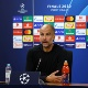 LISBON, PORTUGAL - AUGUST 15: Pep Guardiola, Manager of Manchester City speaks to media during a press conference following the UEFA Champions League Quarter Final match between Manchester City and Lyon at Estadio Jose Alvalade on August 15, 2020 in Lisbon, Portugal. (Photo by UEFA - Handout/UEFA via Getty Images)