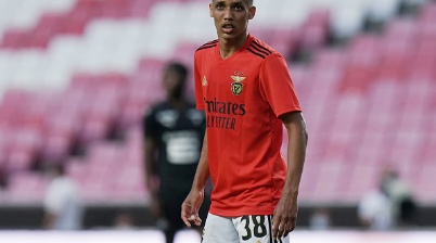 LISBON, PORTUGAL - SEPTEMBER 5: Pedrinho of SL Benfica during the Pre Season Friendly match between SL Benfica and Rennes FC at Estadio da Luz on September 5, 2020 in Lisbon, Portugal.  (Photo by Gualter Fatia/Getty Images)