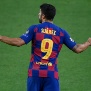 Barcelona's Uruguayan forward Luis Suarez reacts at the end of the UEFA Champions League round of 16 second leg football match between FC Barcelona and Napoli at the Camp Nou stadium in Barcelona on August 8, 2020. (Photo by LLUIS GENE / AFP) (Photo by LLUIS GENE/AFP via Getty Images)