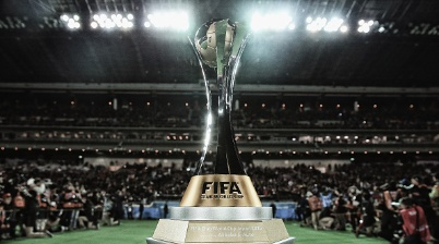 YOKOHAMA, JAPAN - DECEMBER 20:  (Editors note: This image has had a digital filter applied to it) A general view of the FIFA Club World Cup trophy during the FIFA Club World Cup Final match between River Plate and FC Barcelona at International Stadium Yokohama on December 20, 2015 in Yokohama, Japan.  (Photo by Matthew Lewis - FIFA/FIFA via Getty Images)