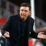 AVELLANEDA, ARGENTINA - JANUARY 05: Marcelo Gallardo coach of River Plate reacts during a first leg semifinal match between River Plate and Palmeiras as part of Copa CONMEBOL Libertadores 2020 at Estadio Libertadores de Am?rica on January 05, 2021 in Avellaneda, Argentina. (Photo by Marcos Brindicci - Pool/Getty Images)