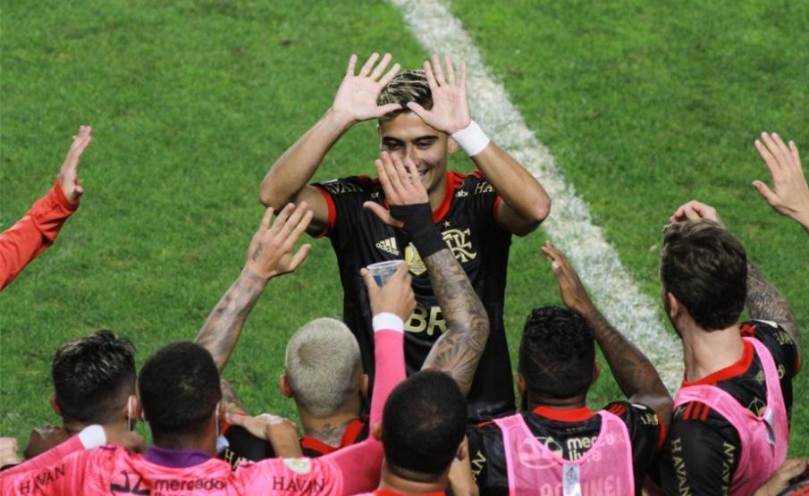 Andreas fez sua estreia pelo Flamengo e foi o autor do quarto gol. Foto: Reprodução/Anderson Lira / Gazeta Press