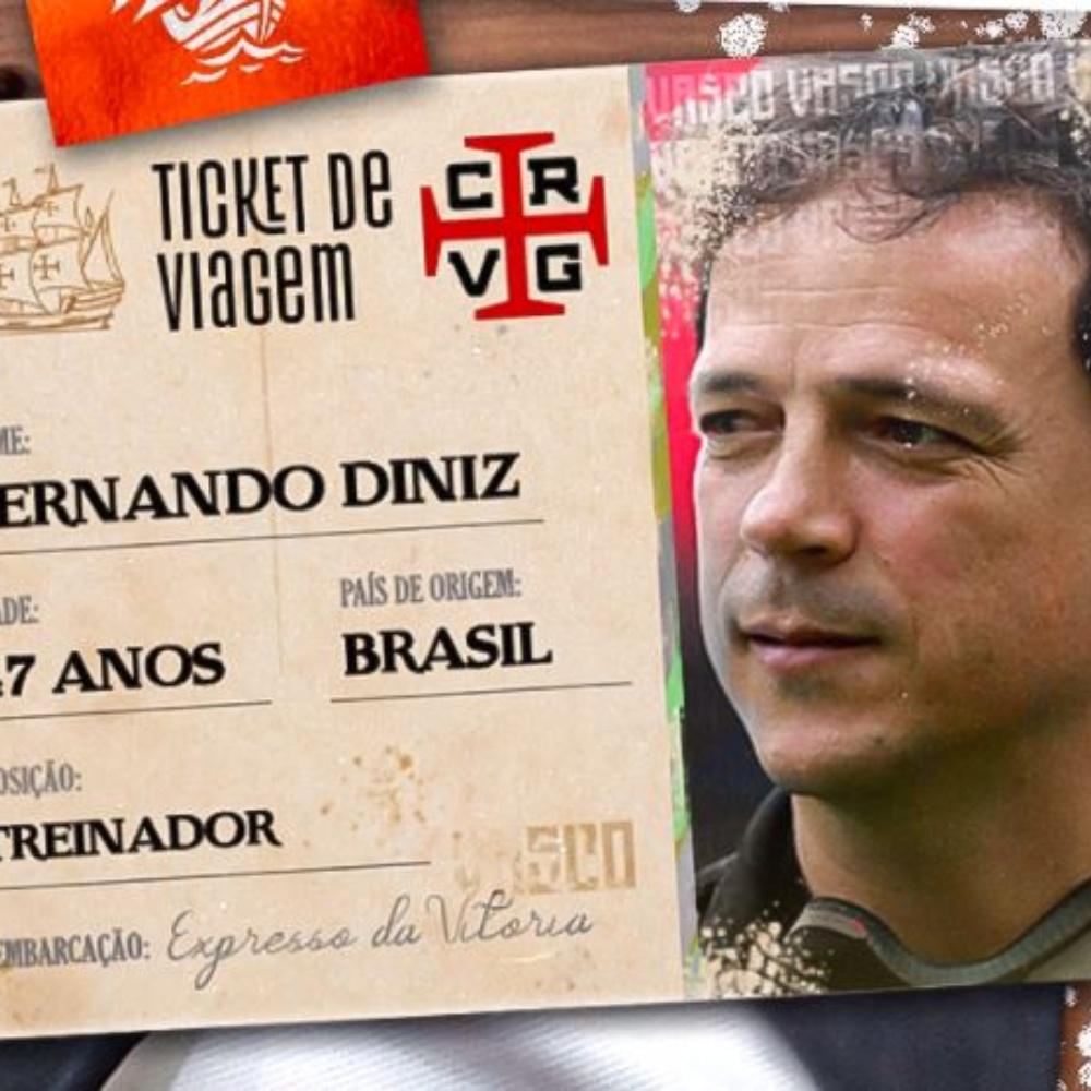 Vasco anuncia a contratação de Fernando Diniz como novo técnico
