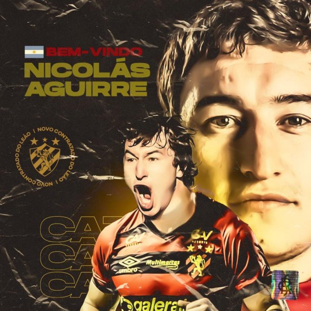 Sport anuncia a contratação do meia argentino Nicolás Aguirre
