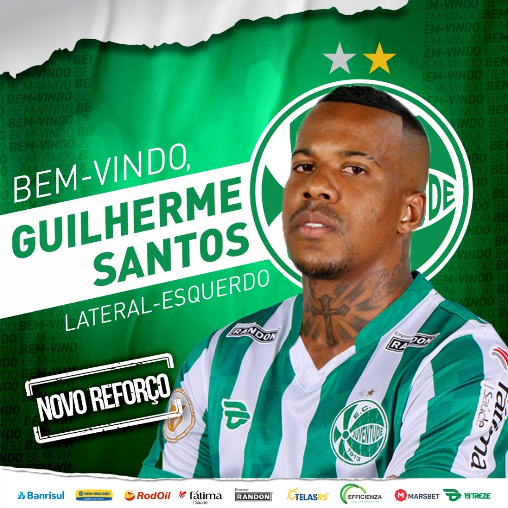 Juventude anuncia as contratações de Rafael Bilu e Guilherme Santos