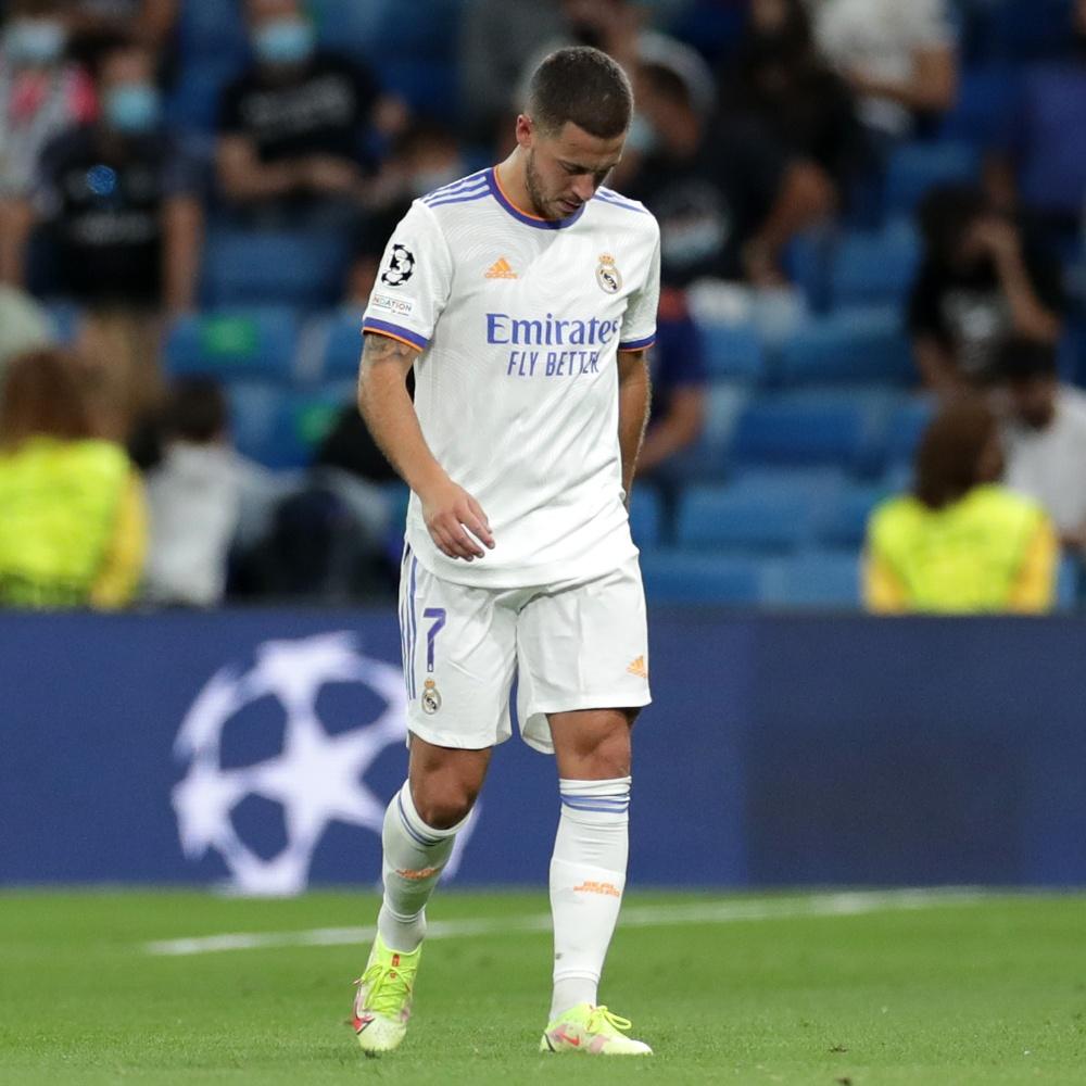 Hazard fica fora da lista de relacionados do Real Madrid para jogo pela Champions League