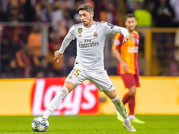 Federico Santiago Valverde Dipetta of Real Madrid CF during the UEFA Champions League group A match between Galatasaray AS and Real Madrid at Turk Telekom Stadyumu on October 22, 2019 in Istanbul, Turkey(Photo by ANP Sport via Getty Images)