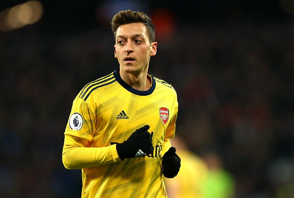 LONDON, ENGLAND - DECEMBER 09: Mesut Ozil of Arsenal during the Premier League match between West Ham United and Arsenal FC at London Stadium on December 09, 2019 in London, United Kingdom. (Photo by Chloe Knott - Danehouse/Getty Images)