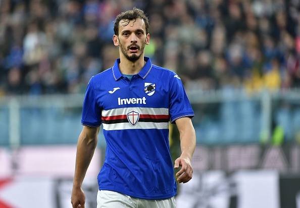 GENOA, ITALY - JANUARY 12: Manolo Gabbiadini of UC Sampdoria during the Serie A match between UC Sampdoria and Brescia Calcio at Stadio Luigi Ferraris on January 12, 2020 in Genoa, Italy. (Photo by Paolo Rattini/Getty Images)
